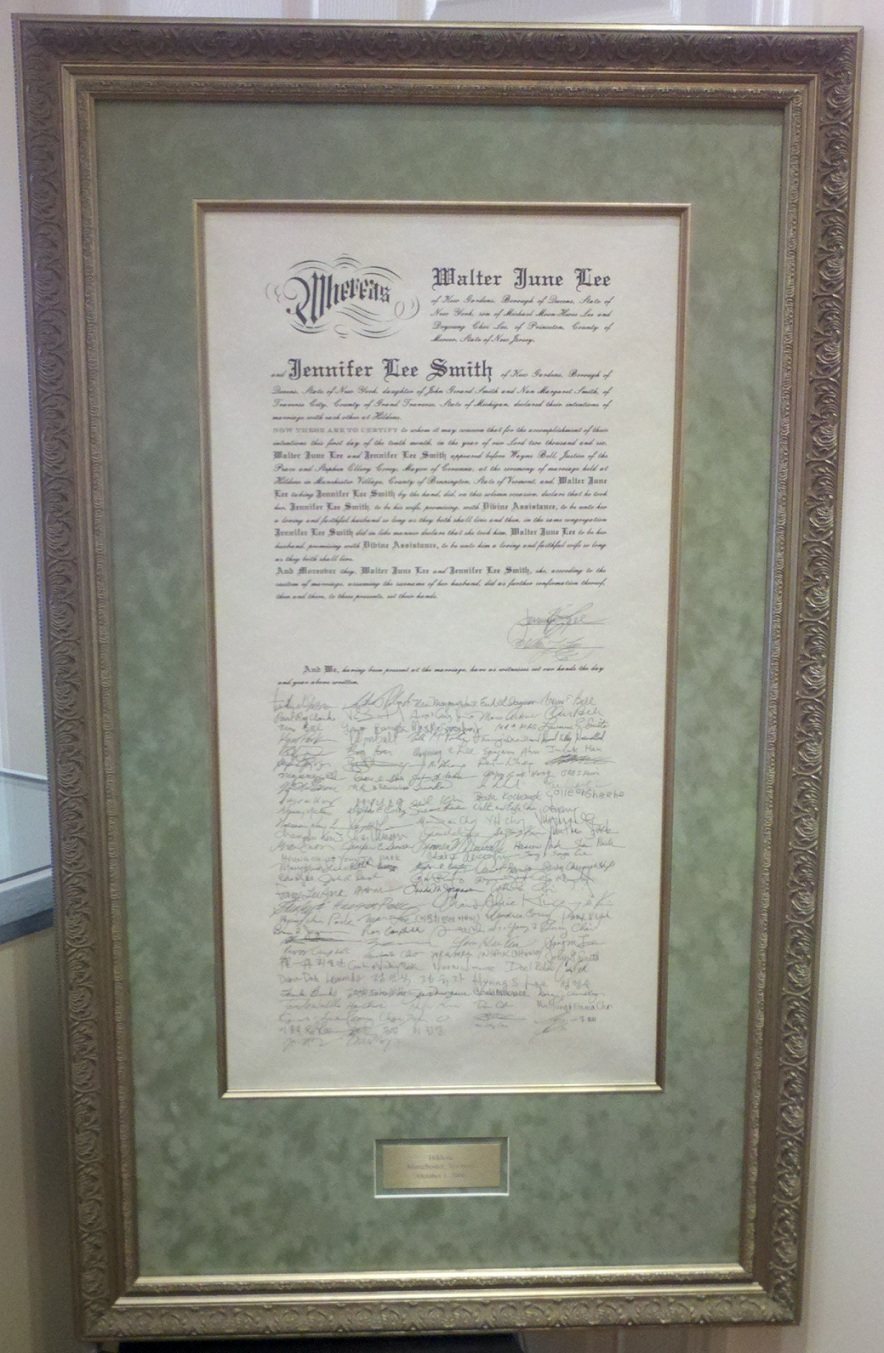 This Marriage Certificate Was Framed Using The Finest Acid Free Conservation Materials All Around Notice Nice Fillet
